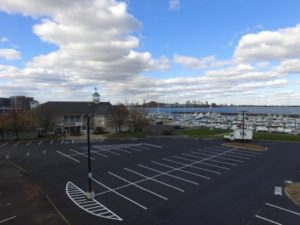 Marina Parking Lot after new lines