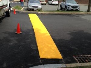 Painted Speed Bump