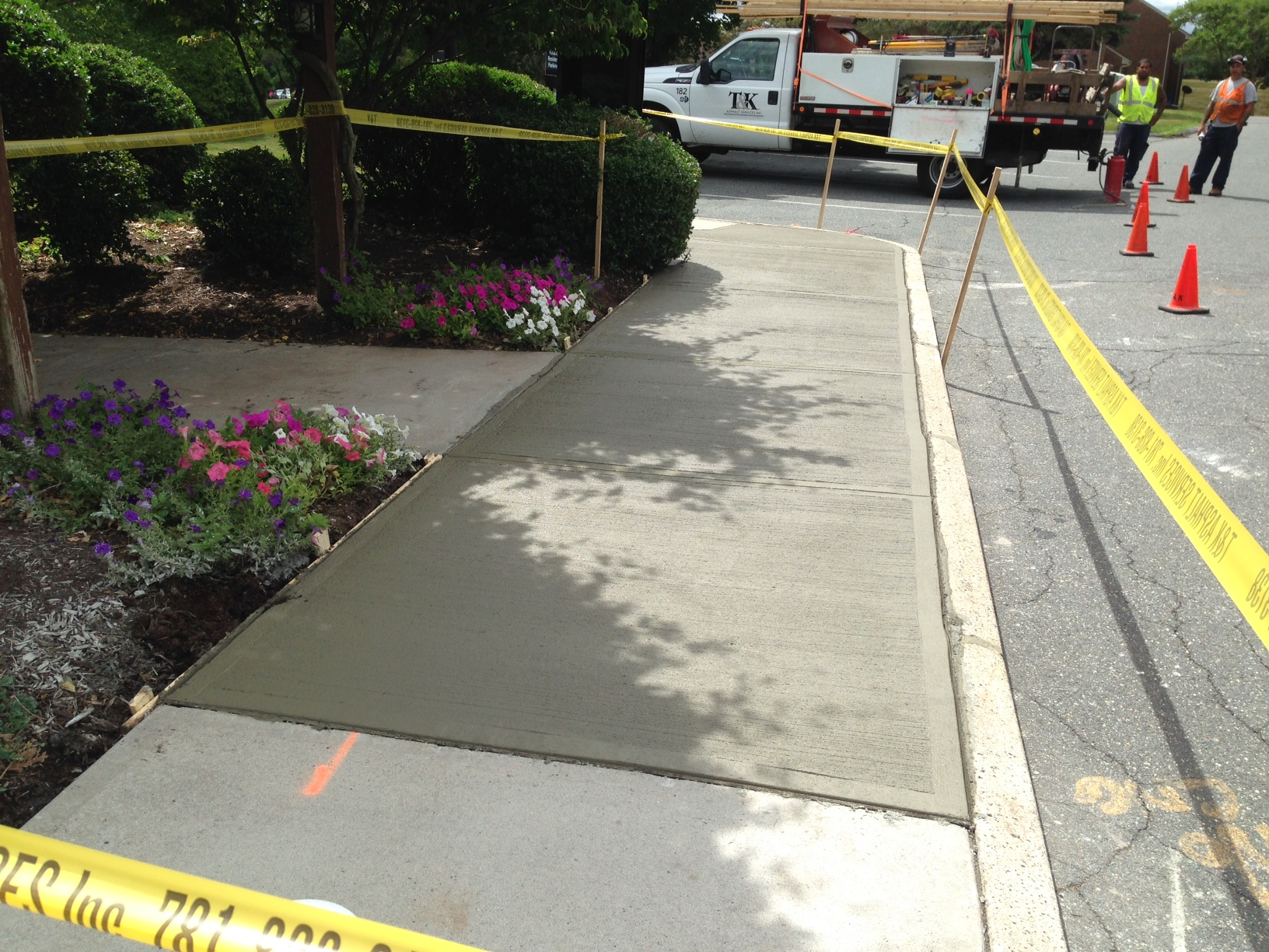 Freshly Poured Concrete Sidewalk