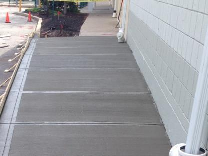 Apartment Concrete Sidewalk
