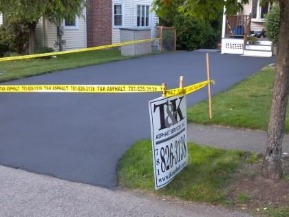 Small Driveway Sealing Job