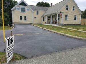 T&K Asphalt Seal Coat just finished driveway at the Yellow Country House
